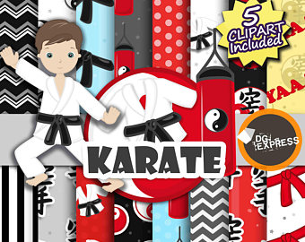 Martial Arts clipart marsal Martial Paper digital