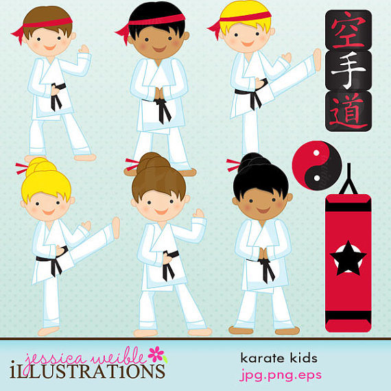 Martial Arts clipart santa Commercial Clipart Tae Karate Karate