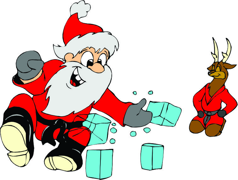 Martial Arts clipart santa 756 Central karate in doing