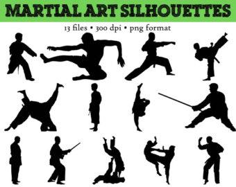 Martial Arts clipart taekwondo kicks Figures Clipart  Clip Free