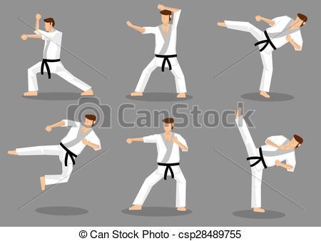 Martial Arts clipart taekwondo kicks Taekwondo Kicks Karate csp28489755 Vector