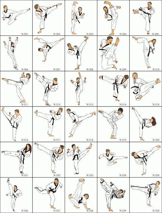 Martial Arts clipart taekwondo kicks Every kick Taekwondo Best Martial