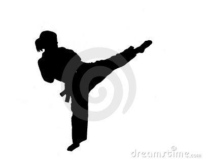 Martial Arts clipart taekwondo kicks Silhouette Of Photos Free Girl
