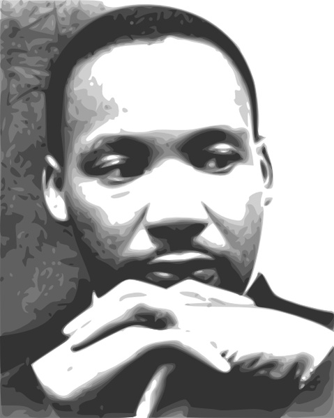 Martin Luther King clipart Free clip Martin Jr Open