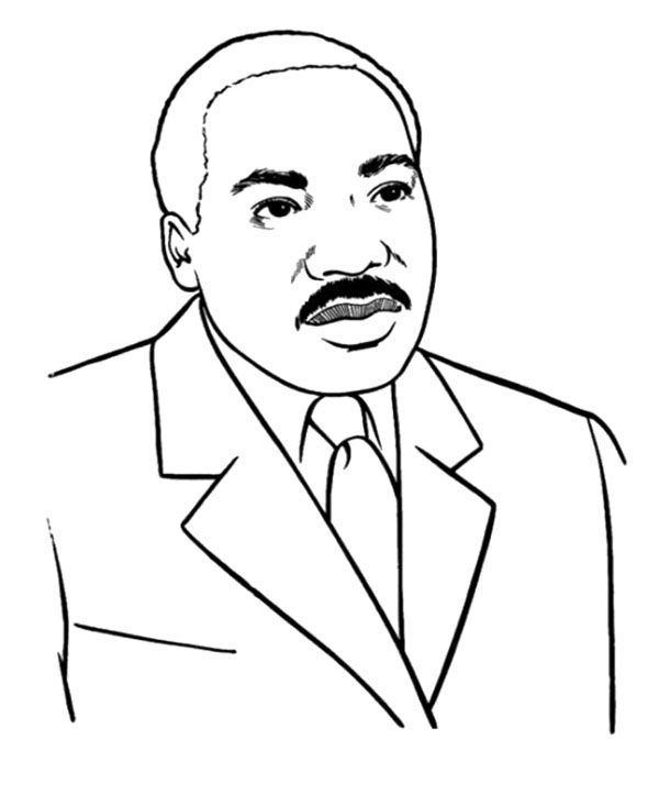 Martin Luther King clipart Martin Luther King Coloring Page Page Martin King 37 Rosa