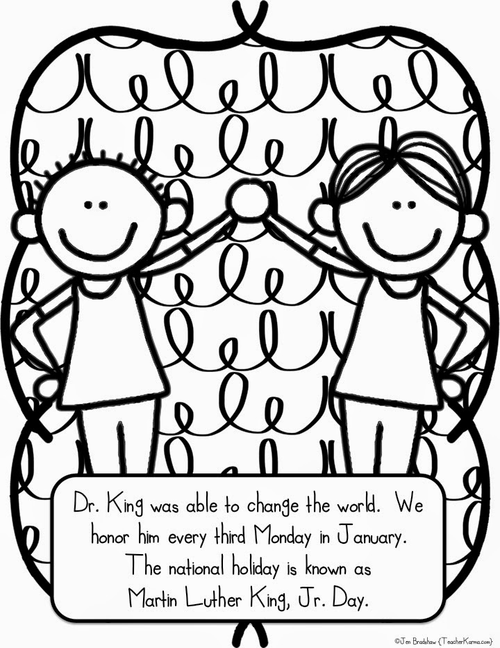 Martin Luther King clipart Martin Luther King Coloring Page FREE TeacherKarma Martin coloring FREEBIE!