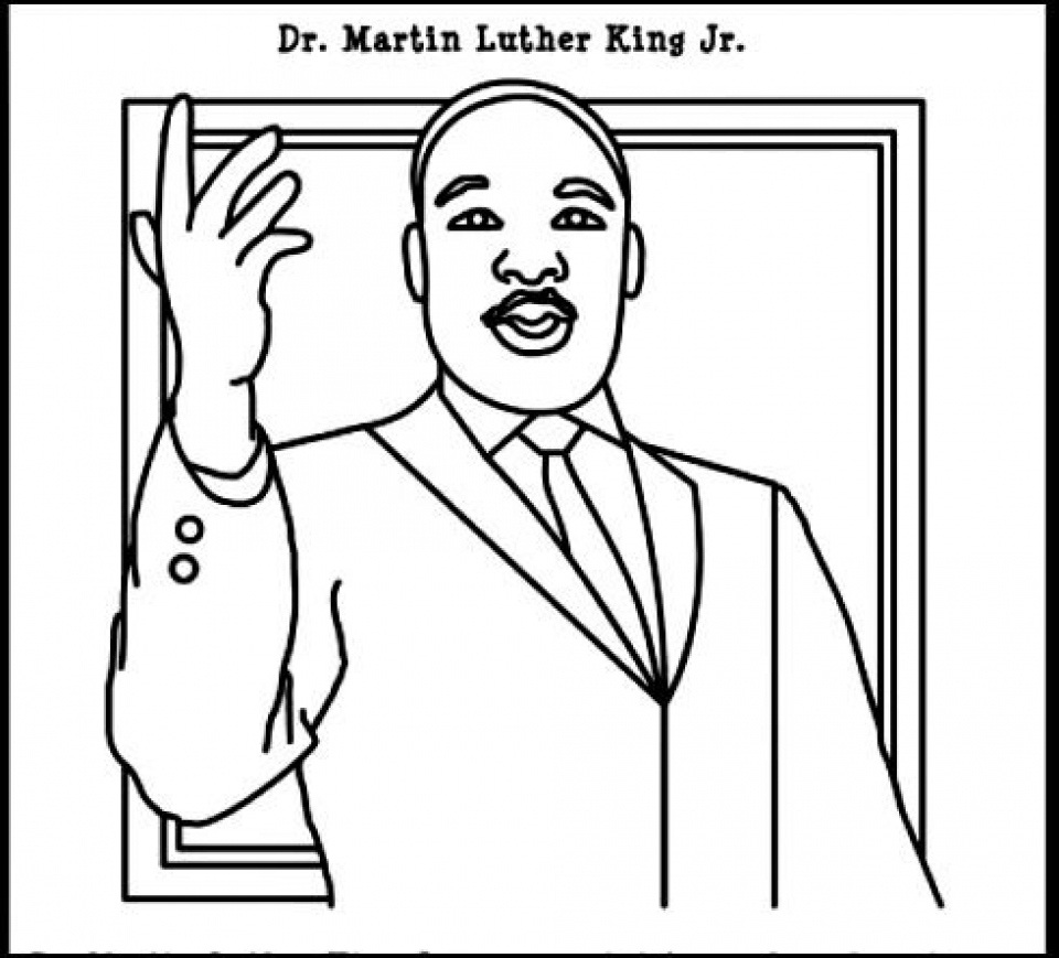 Martin Luther King clipart Martin Luther King Coloring Page Coloring luther to swsyq king