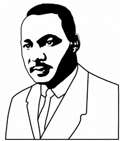 Martin Luther King clipart Martin Luther King Coloring Page Martin to Pinterest Luther google