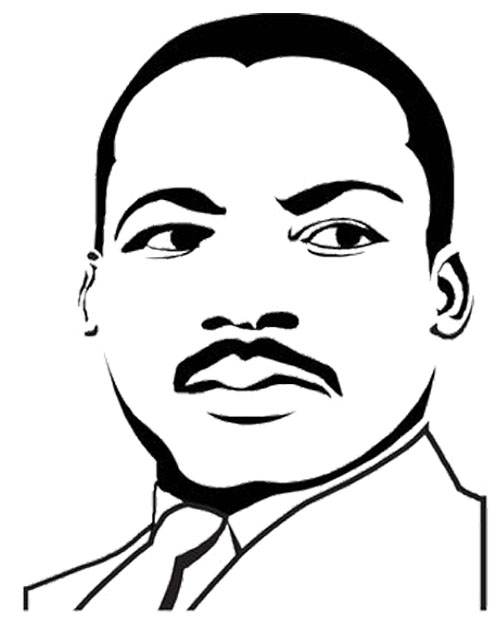 Martin Luther King clipart Martin Luther King Coloring Page Coloring Face Page Page Page