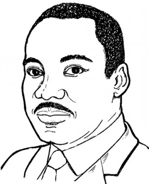 Martin Luther King clipart Martin Luther King Coloring Page University was Coloring Martin Born