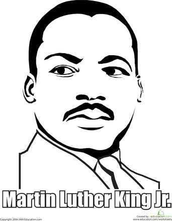 Martin Luther King clipart Martin Luther King Coloring Page Coloring Jr Page Page luther