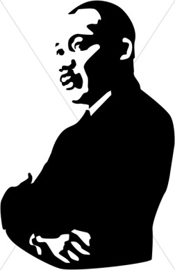 Martin Luther King clipart Martin Luther King Jr Silhouette Printable Luther Images  Luther Martin