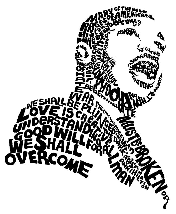 Martin Luther King clipart Martin Luther King Jr Silhouette Printable 25+ on Mlk Luther