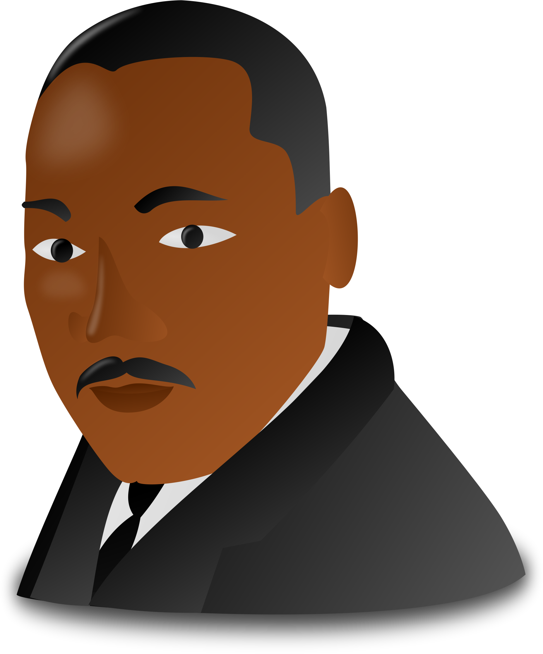 Martin Luther King clipart Martin Luther King Jr Silhouette Printable Luther Art Clip For Images