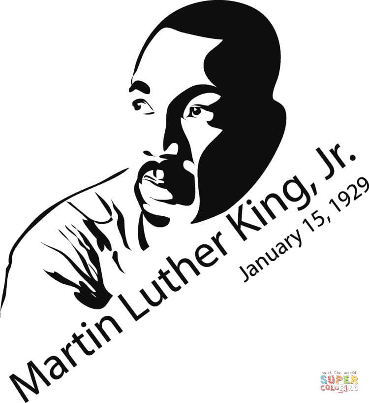 Martin Luther King clipart Martin Luther King Jr Silhouette Printable Martin Printable Pages the Click