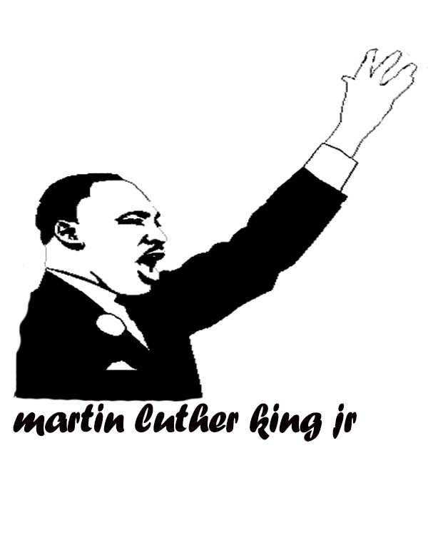 Martin Luther King clipart Martin Luther King Jr Silhouette Printable Page Speech Lincoln Luther