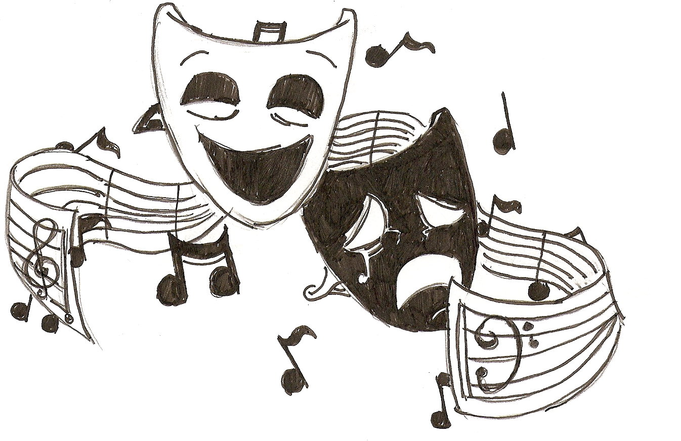 Theatre clipart mask drawing Song on Download And on