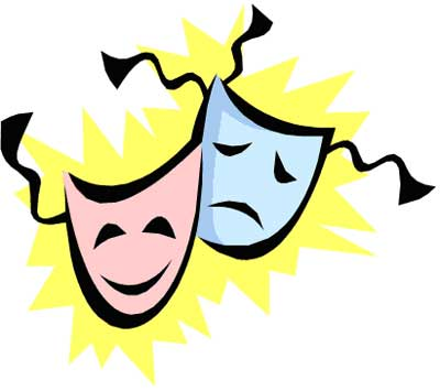 Theatre clipart drama And tragedy masks clipart collection