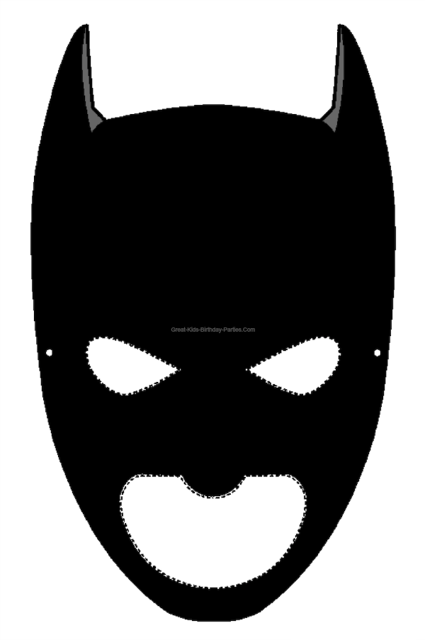 Batgirl clipart mask  Masks Printable Halloween
