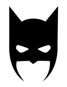 Mask clipart batgirl Halloween  Silhouette printable superhero