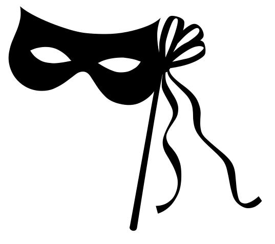 Masquerade clipart black mask Mask on And Mask Eye