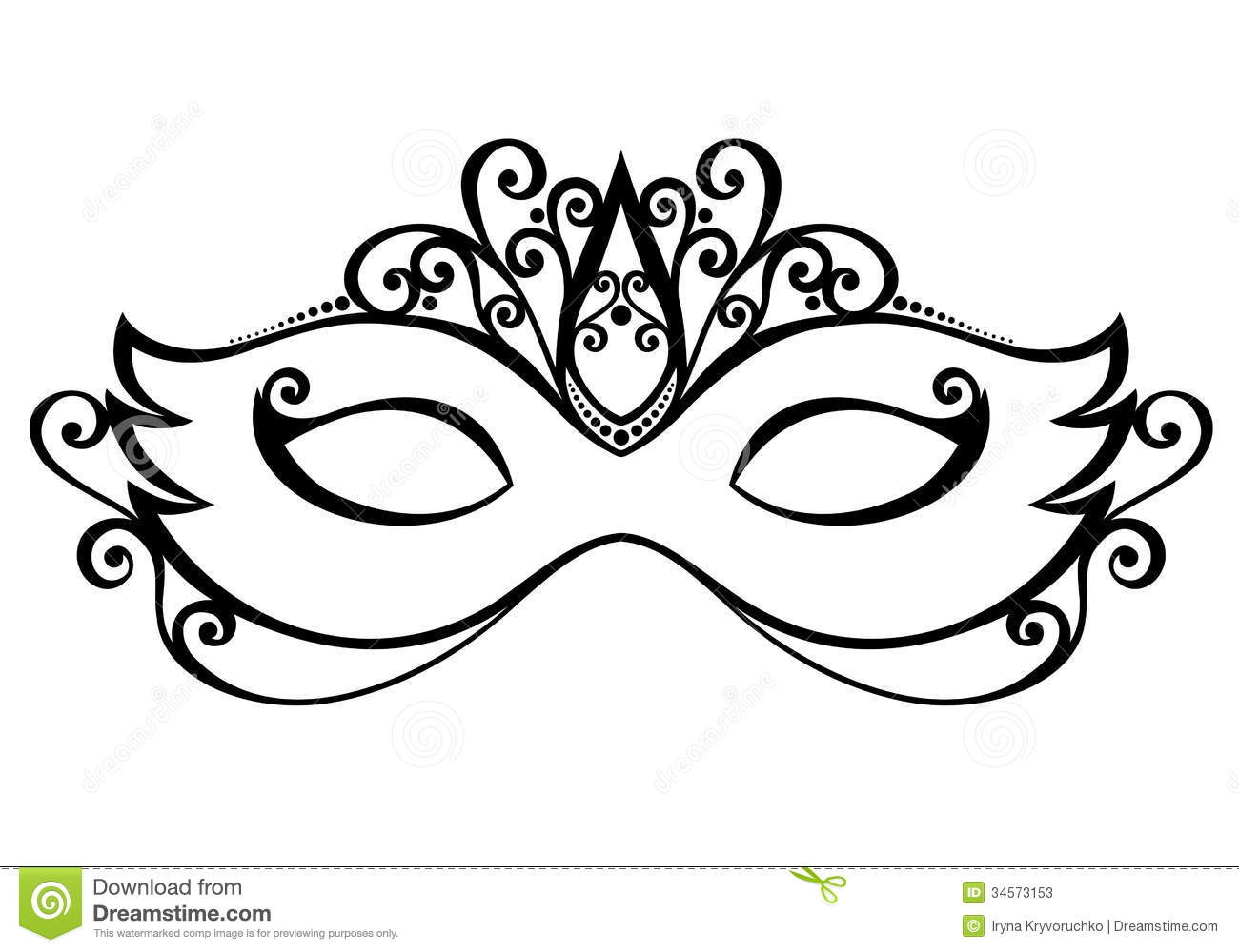 Carneval clipart venetian mask Image And form White And