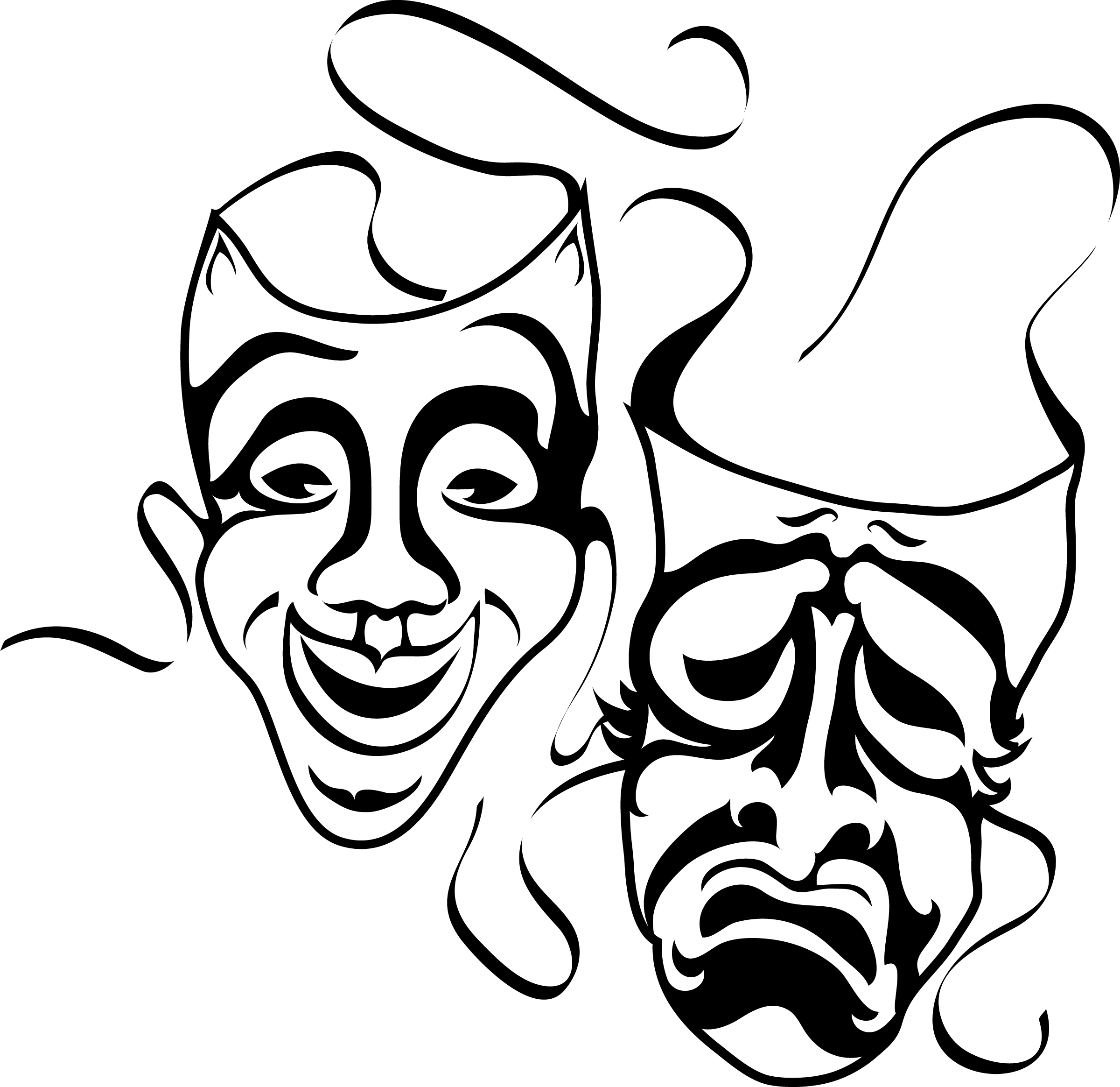Theatre clipart theatre mask comedy tragedy On Masks Drama Free library