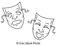 Theatre clipart mask drawing Artby Mask  162 LindaB4/299;