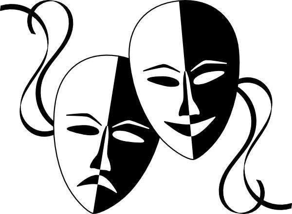 Theatre clipart mask vector Clip drawing art Wasat Theatre