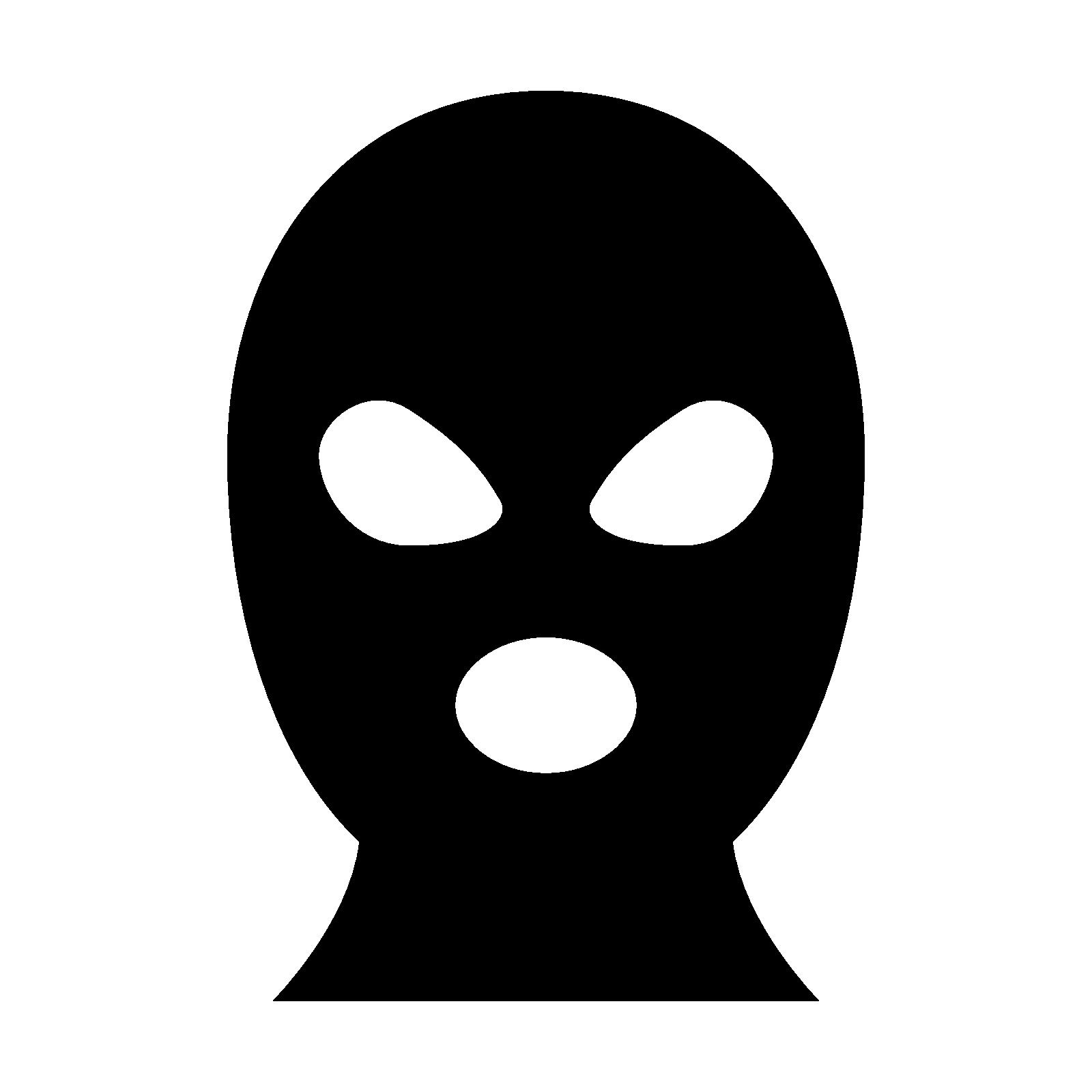 Mask clipart burglar Mask at Mask Ski Icon