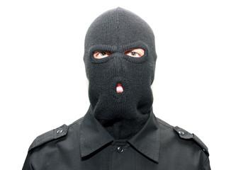 Mask clipart burglar Burglar hijacker on ski an