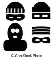 Mask clipart burglar Burglar robbery vector theft and