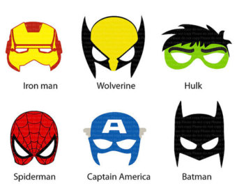 Wolverine clipart mask Printable mask Ironman Etsy Birthday