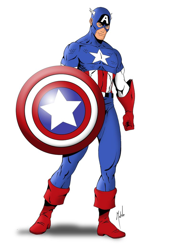 Comic clipart capt On Mike Captain america Best