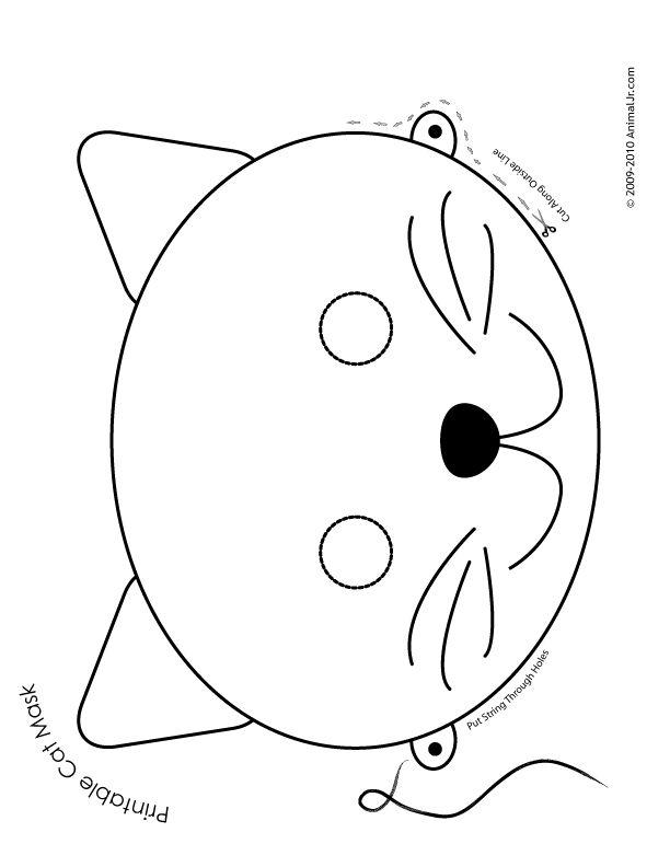 Drawn masks cat On Jr Animal 25+ Mask