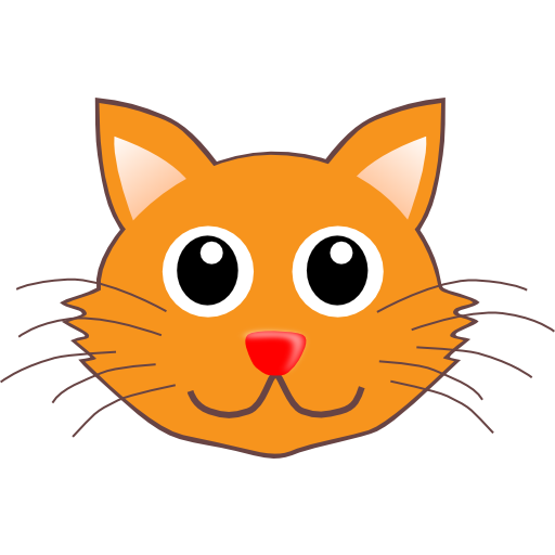 Realistic clipart cat face #2
