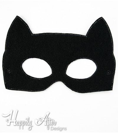 Mask clipart cat woman Superhero ITH Catwoman Embroidery Mask