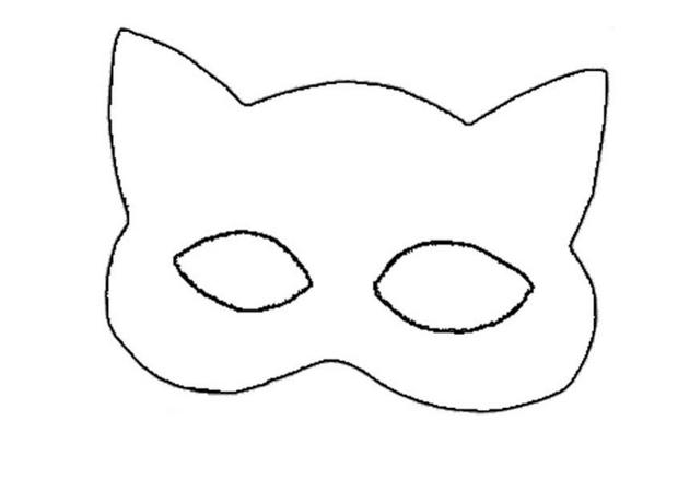 Mask clipart cat woman CATWOMAN Hellokids mask How mask