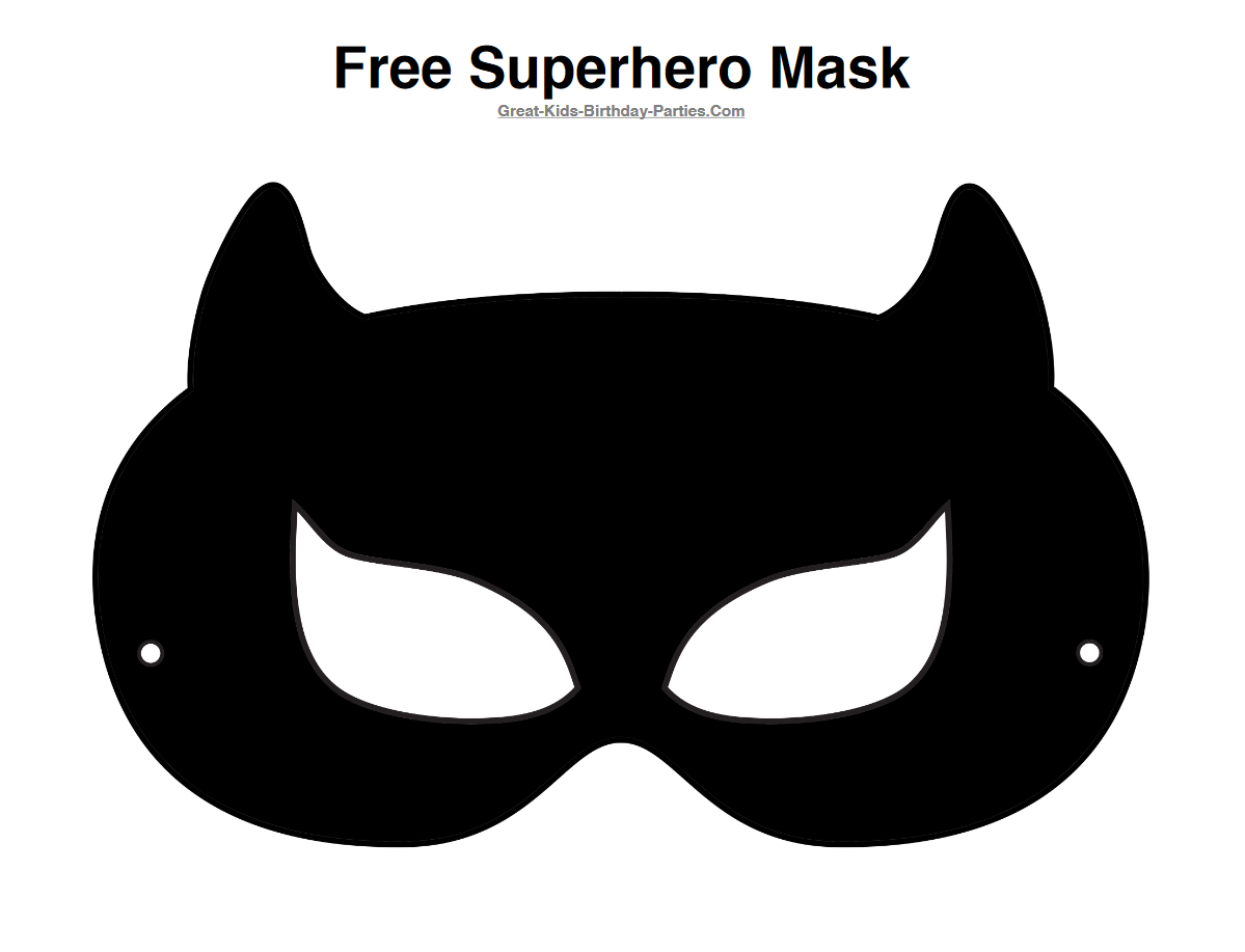 Mask clipart cat woman Free PRINTABLE Catwoman Free Half
