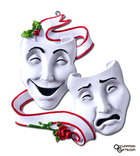 Mask clipart christmas Comedy Stage Tragedy Masks by
