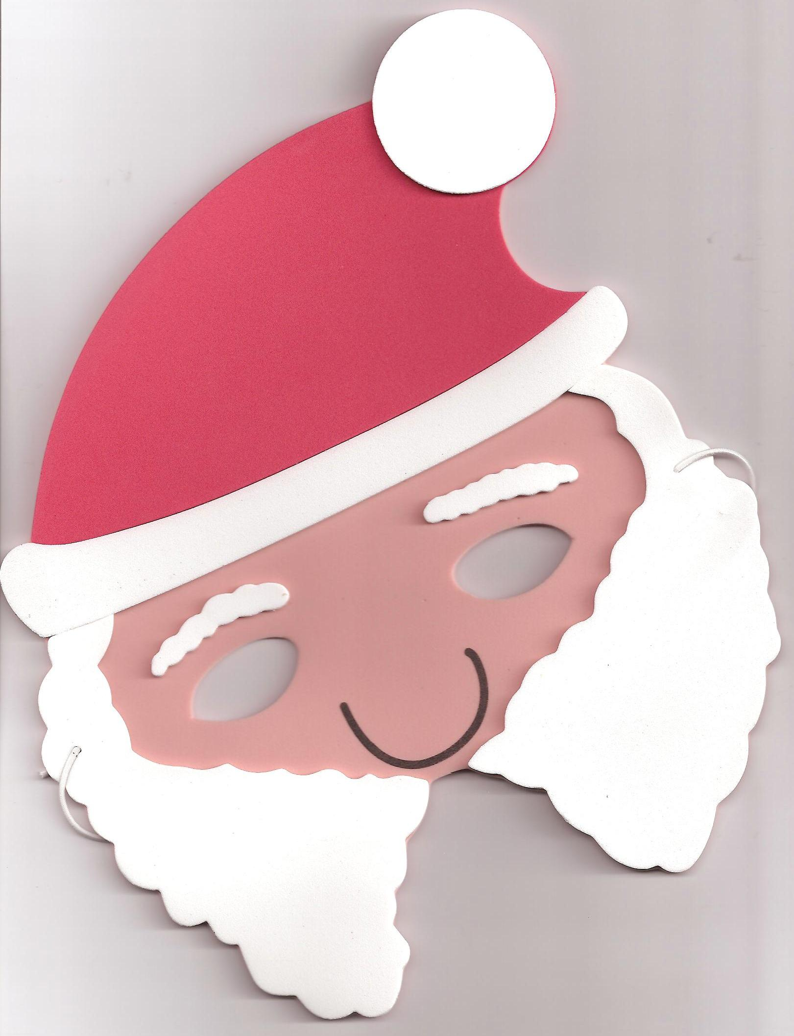 Mask clipart christmas Father Foam Christmas Childminding Santa