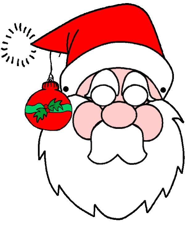 Mask clipart christmas Images 28 about #Santa Pinterest