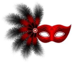 Mask clipart clip art transparent Image Red Feather Mask Art