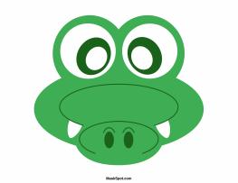 Crocodile clipart mask Version mask the PDF