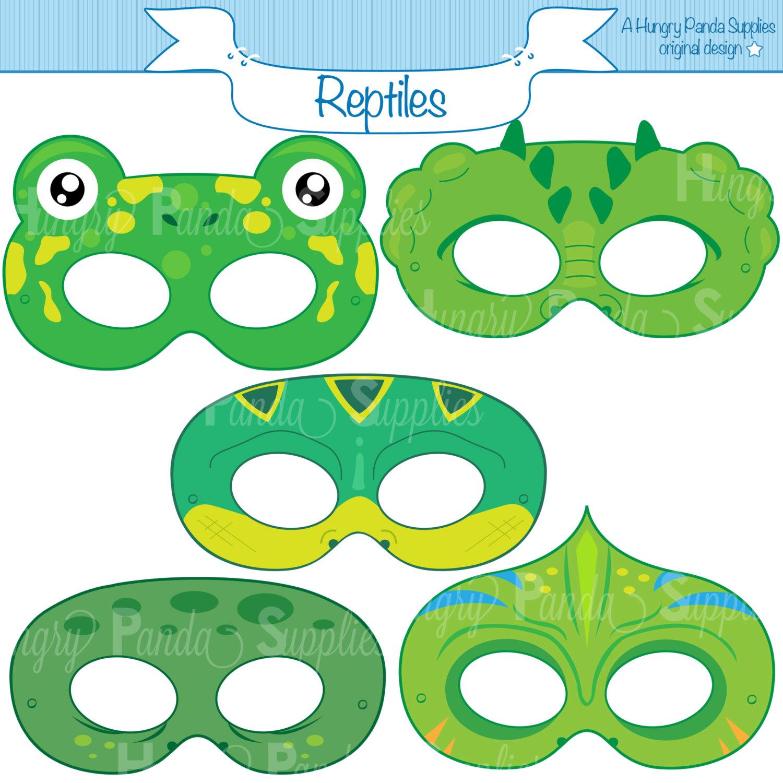 Crocodile clipart mask Reptile Masks this lizard alligator