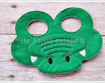 Crocodile clipart mask Crocodile Mask Felt Mask Mask