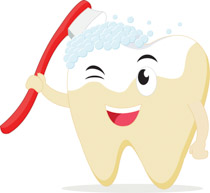 Toothbrush clipart dental care #1