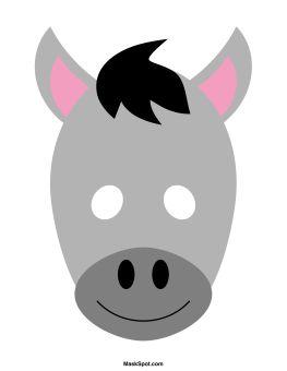 Mask clipart donkey Pinterest templates Donkey on mask
