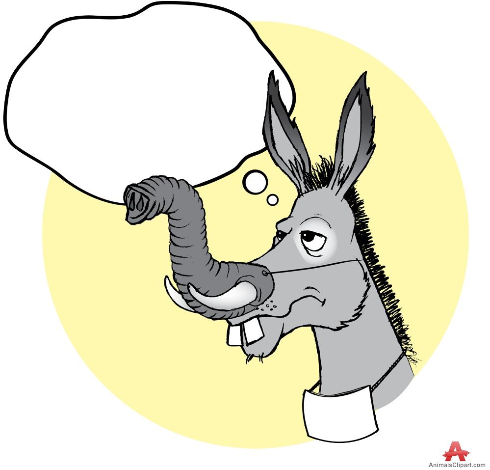 Mask clipart donkey Donkey Funny Thinking Mask Design