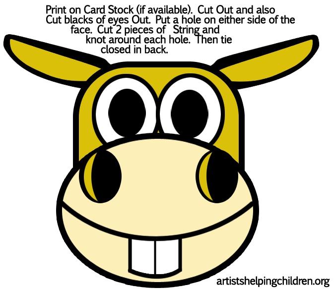Mask clipart donkey Printables donkeys masks pixels ideas